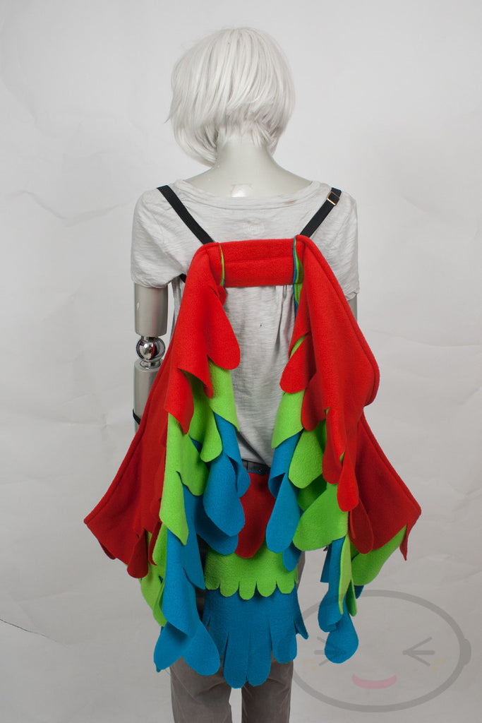 Long Macaw Tri-colored Wings and/or Tail Set