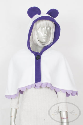 Purple Panda Capelet - Hood and Tail