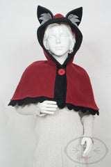 Kids Red Wolf Capelet - Hood and Tail