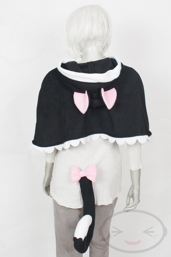Black Cat Capelet - Hood and Tail