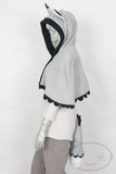 Grey Husky Capelet - Hood and Tail