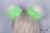 Luxury Fluorescent Lime Furry Ear & Tail Set - White Tip