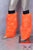 Fluorescent Orange Luxury Fur Legwarmers