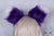 Purple Luxury Fur Ears- White Tip