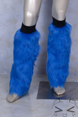 Blue Luxury Fur Legwarmers