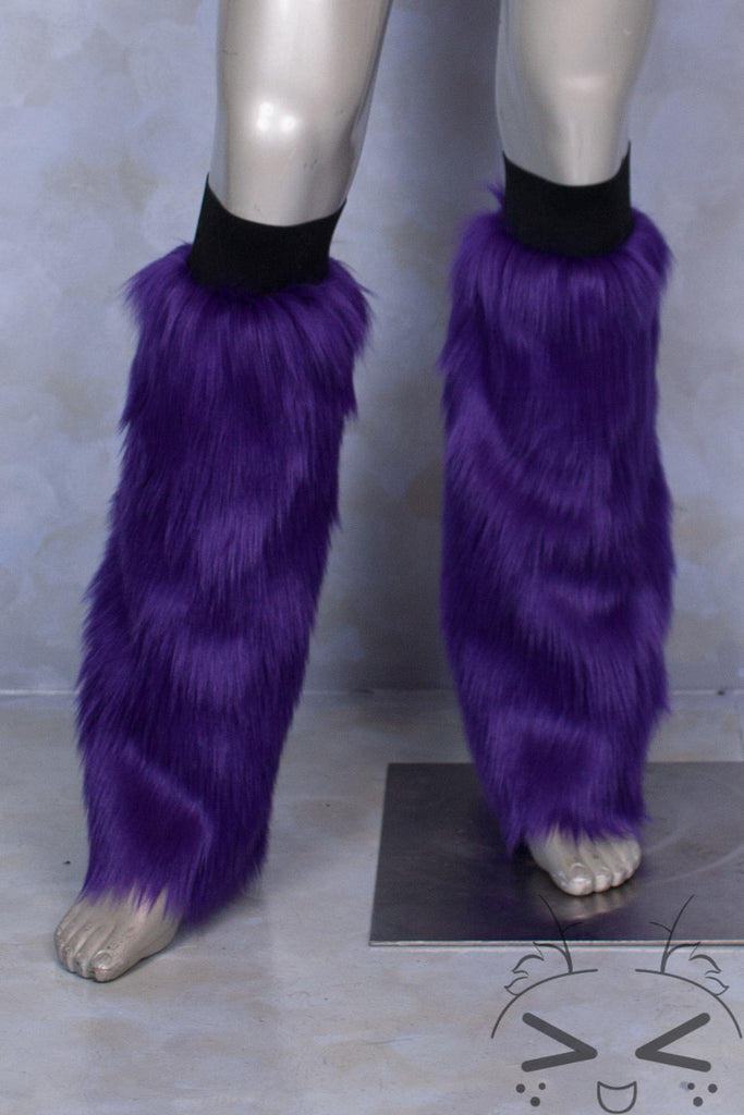 Purple Luxury Fur Legwarmers