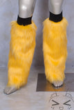 Fluorescent Yellow Luxury Fur Legwarmers
