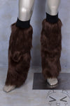 Brown Luxury Fur Legwarmers