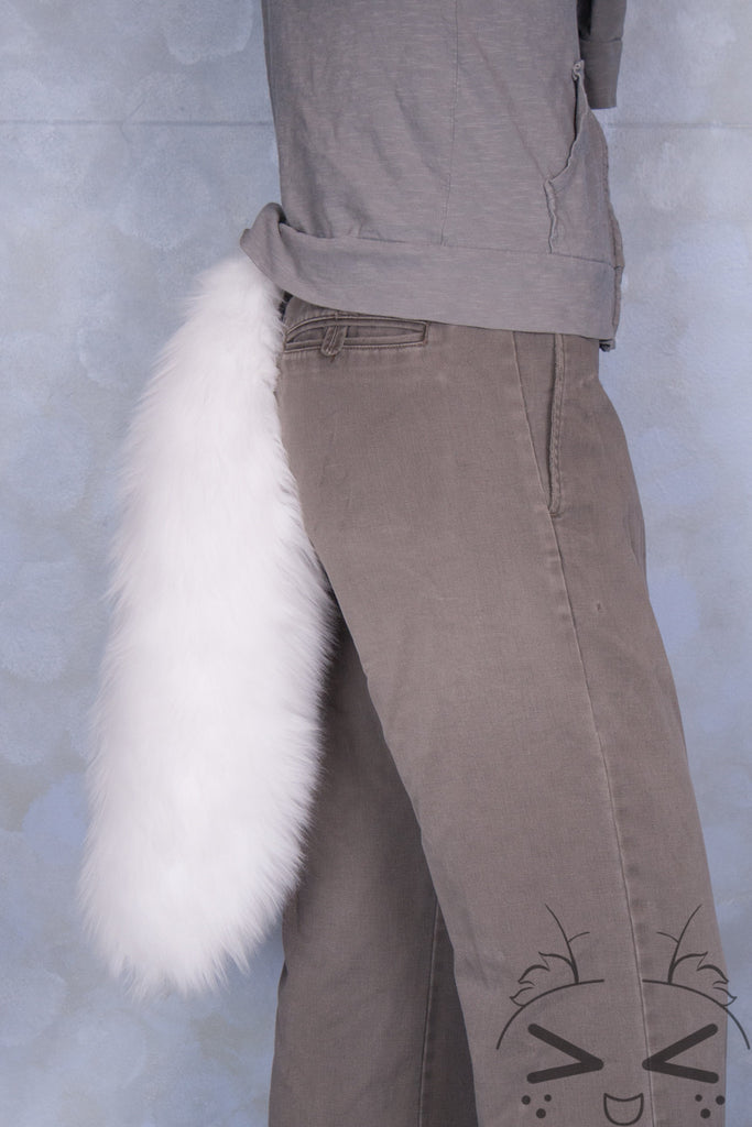White Luxury Fur Tail- Solid