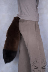 Brown Luxury Fur Tail- Black Tip