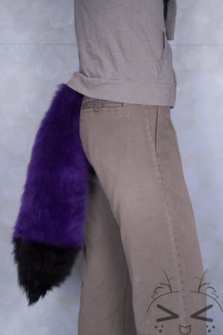 Purple Luxury Fur Tail- Black Tip