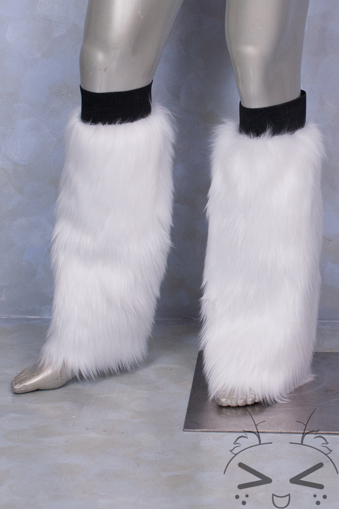 White Luxury Fur Legwarmers