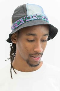Nigel Color Blocked Bell Bucket Hat in Black