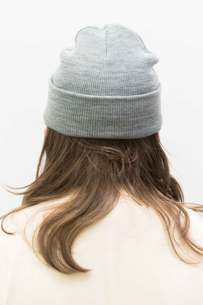 Chase Beanie in Grey Heather/Gold