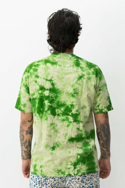 Aroma Crystal Dye Shirt in Green