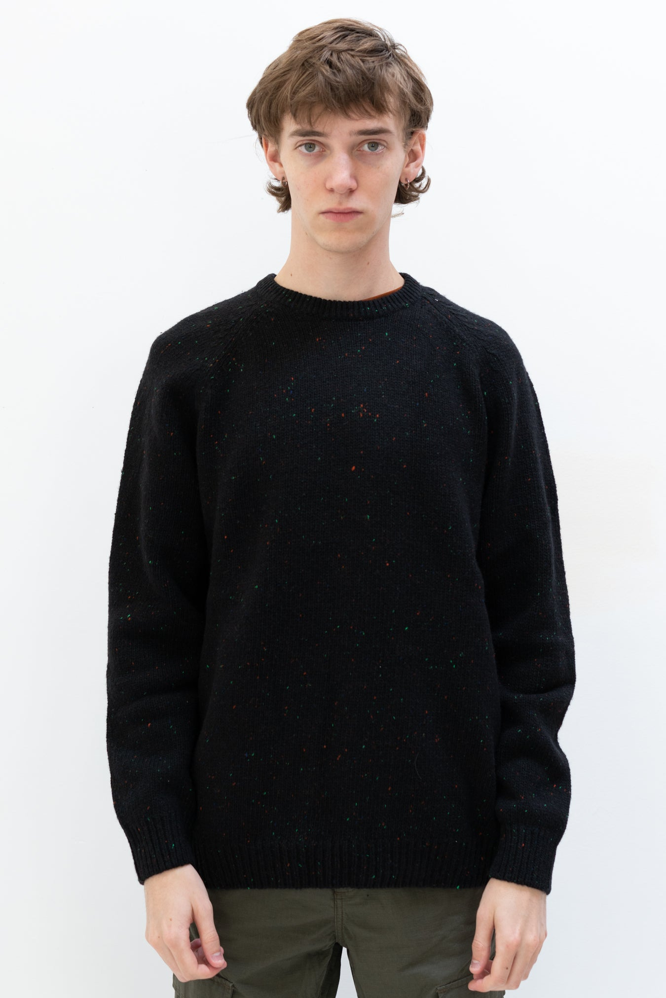 Anglistic Sweater in Black Heather