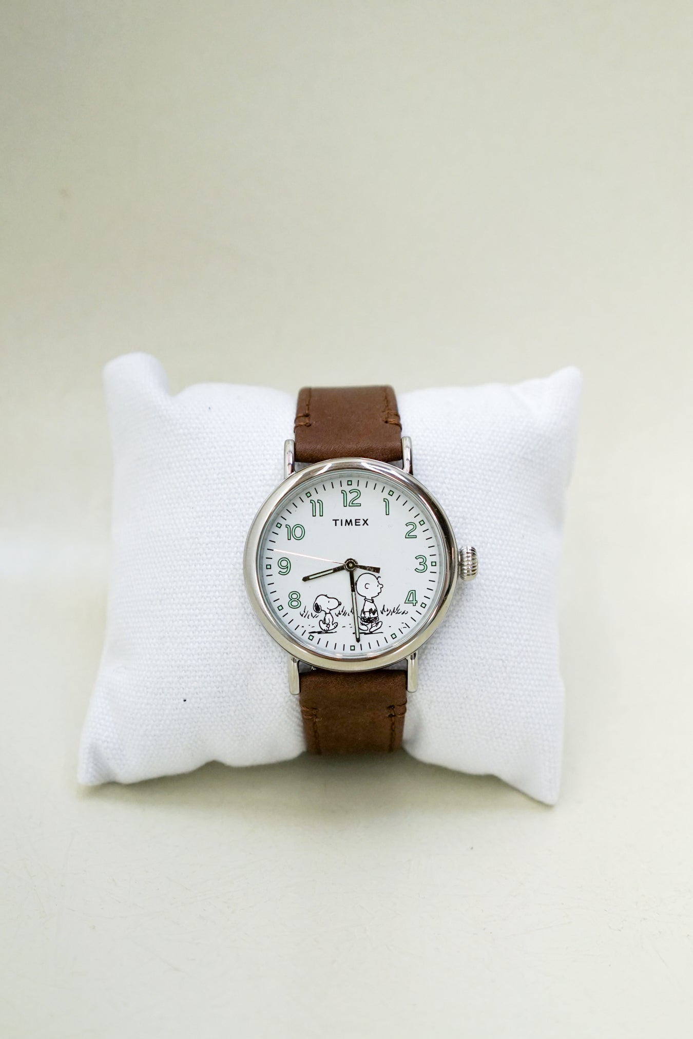 Timex Standard x Peanuts 70th Anniversary 40mm Brown Leather Strap Watch