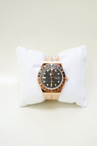 Reissue 38mm Stainless Steel Bracelet Watch - Rose Gold/Black