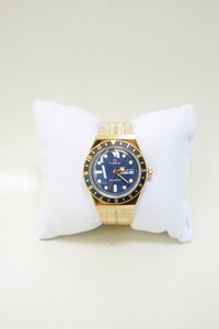 Reissue 38mm Stainless Steel Bracelet Watch - Gold/Navy
