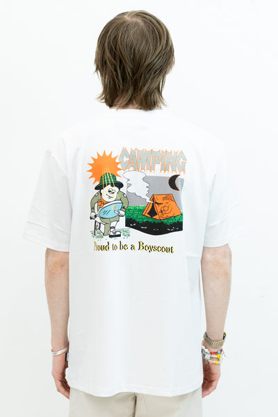 Camping Tee in White