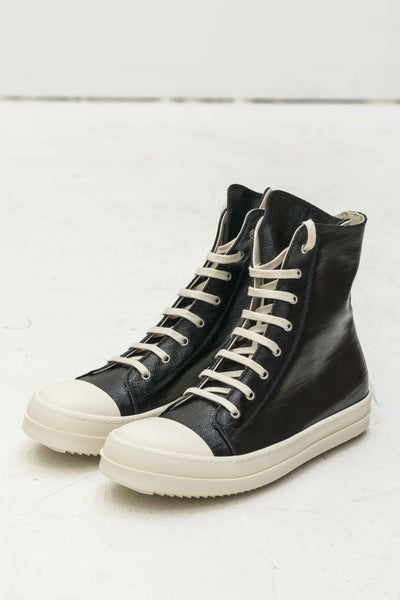 High-Top Ramones in Woven Black