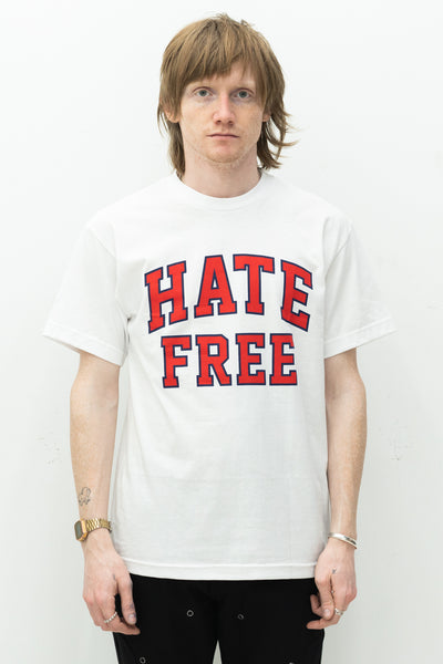 Hate Free Tee in White
