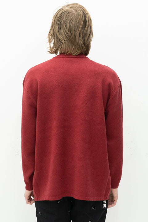 Utero Jacquard Sweater in Maroon