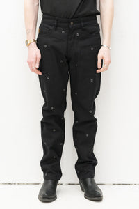 Village Rivet Denim in Black