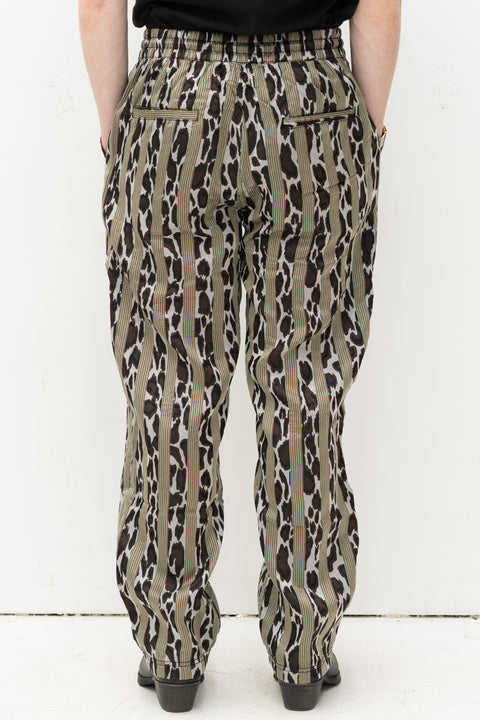 Bloom Striped Beach Pant in Black