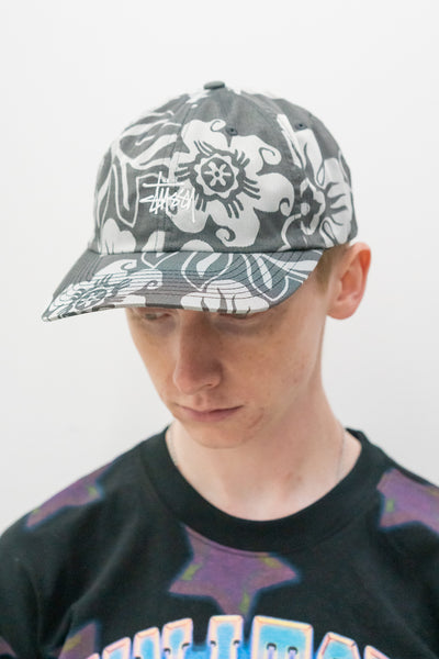 Nylon Hawaiian Low Pro Cap in White