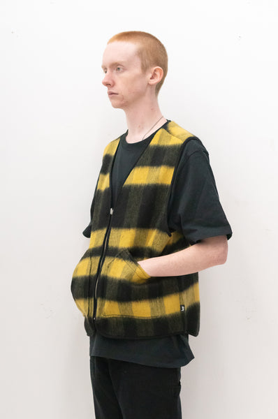 Block Reversible Vest in Mustard