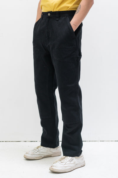 Canvas Work Pant in Black