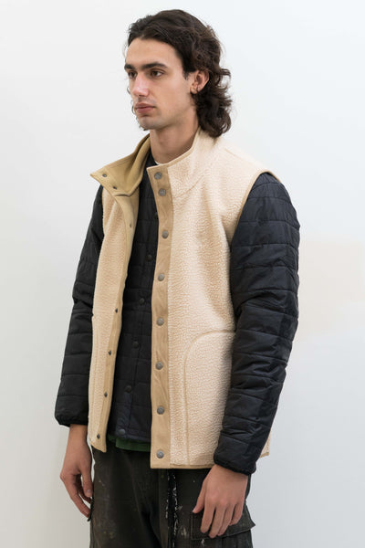 BOA Fleece Vest in Ivory