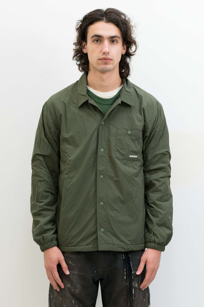Nylon Fleece Coaches Shirt in Olive