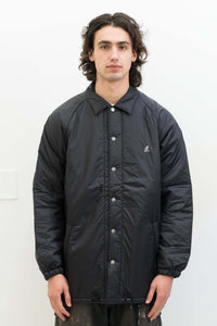 Padding Coaches Jacket in Black