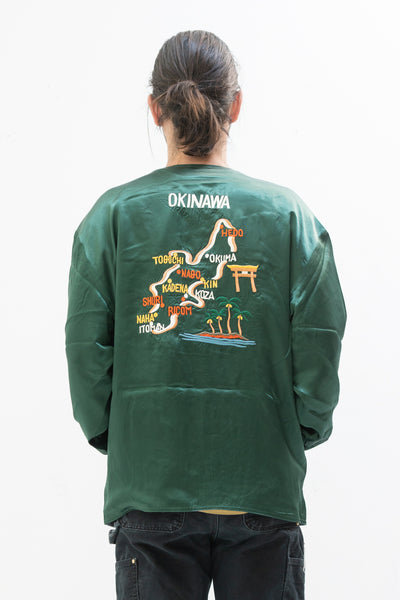 Reversible Souvenir Jacket in Green and Blue
