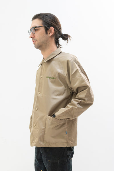 OG Embroidery Coaches Jacket in Beige