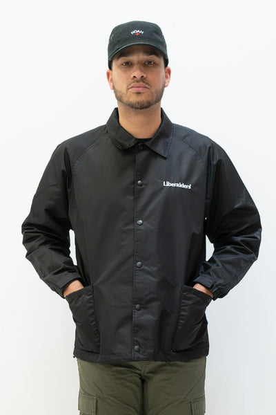 OG Embroidery Coaches Jacket in Black