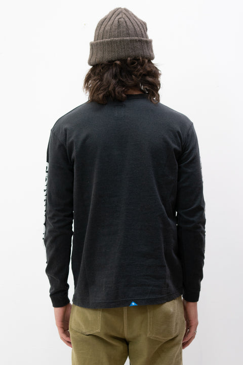 Triangle Logo L/S Tee in Black