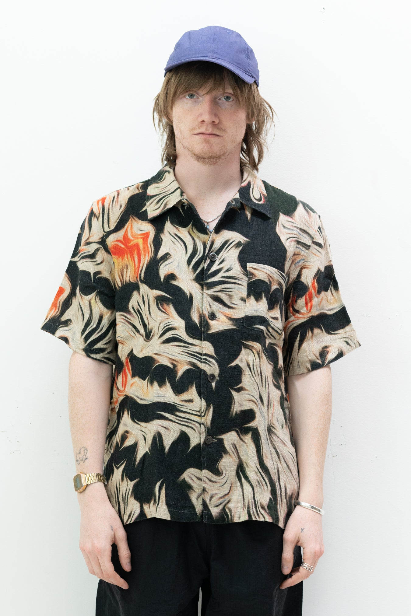 S/S Box Shirt in Platigyra Print
