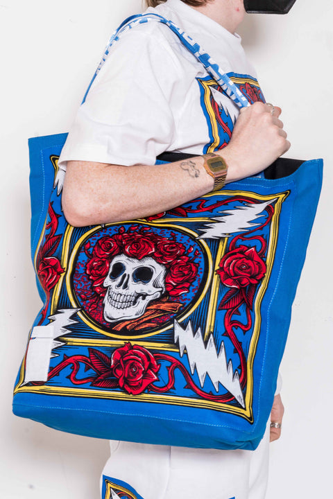 The Grateful Dead Border Bandana Tote Bag