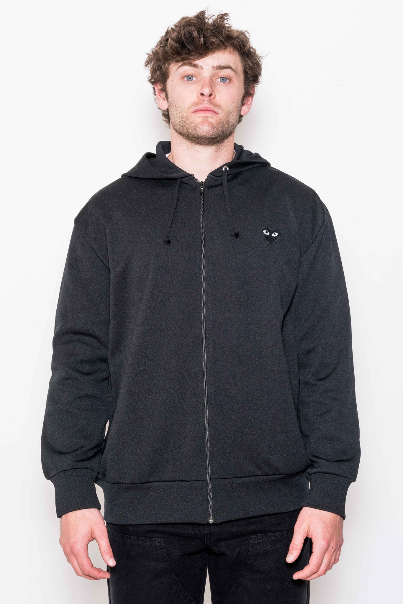 Zip-Up Hoodie T254 in Black