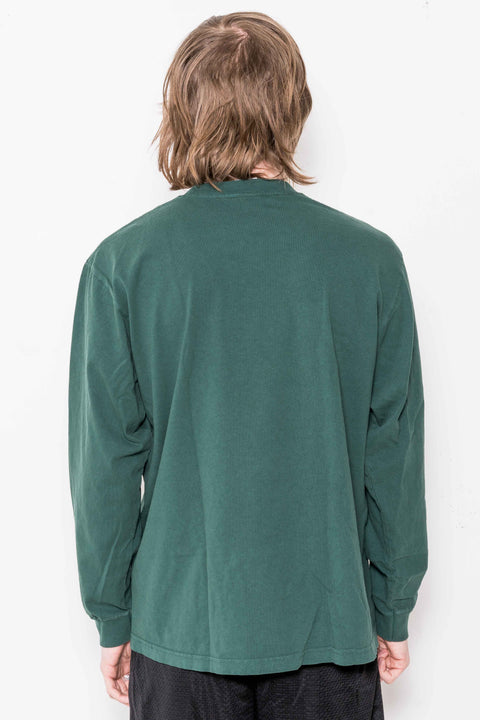 Powers Arch LS Tee in Dark Green