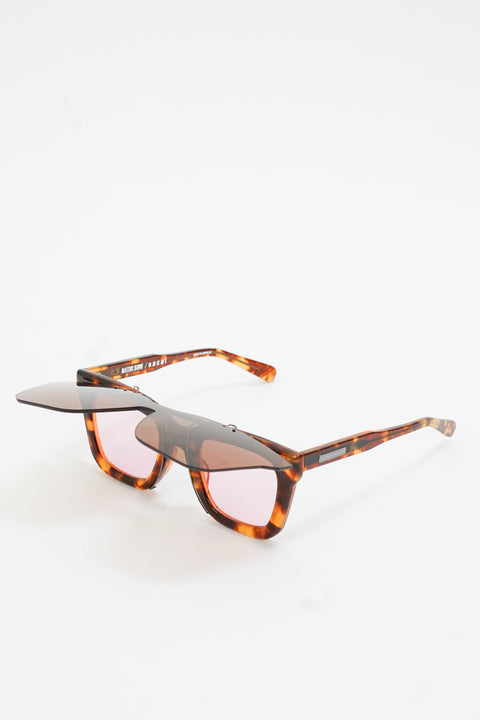 Sacai Shield Set Cornell in Brown Tortoise