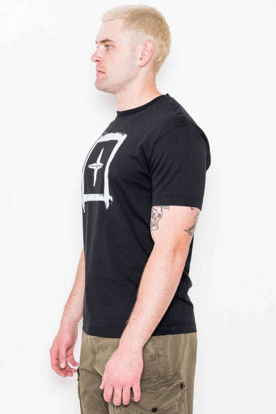 "Tee 2NS81 ""Stencil Two"" in Black"