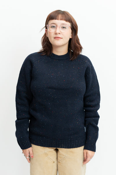 Anglistic Sweater in Dark Navy Heather