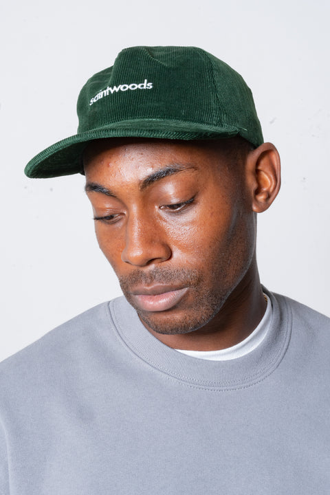 Corduroy Hat in Green