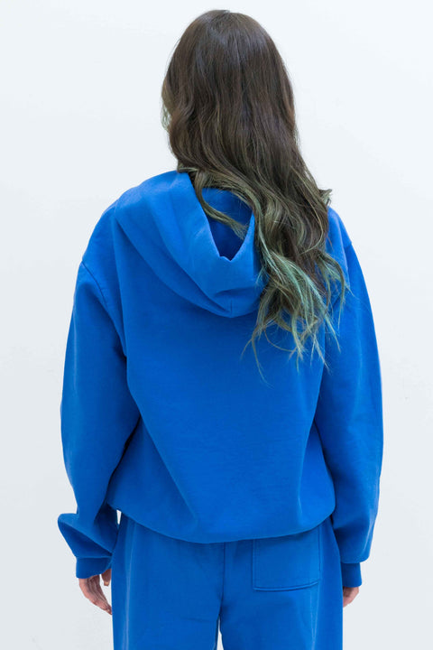 Rose Hoodie in Persian Blue