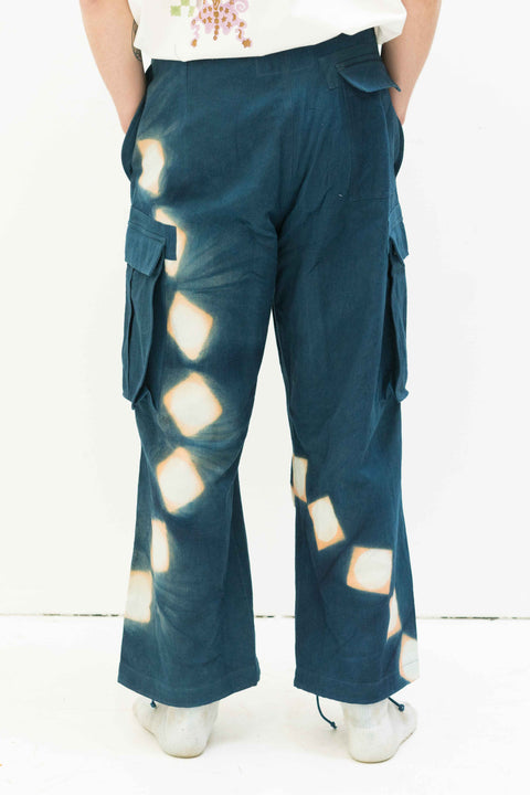 Peace Pants in Indigo Pink Lunar Clamp