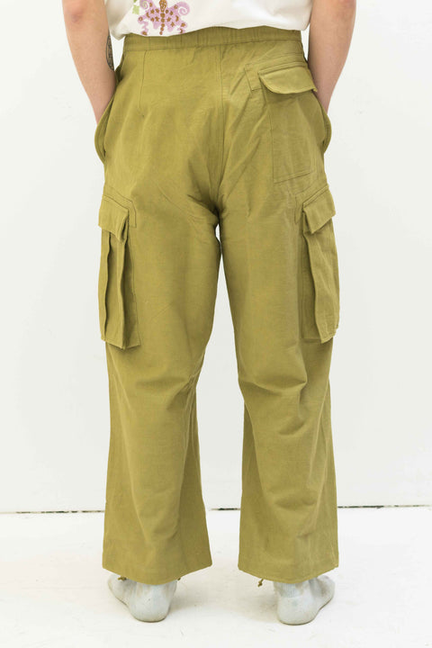 Peace Pants in Khaki Overdye